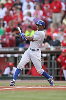 June 18, 2008: Los Angeles Dodgers left fielder Juan Pierre (9) at The Great American Ballpark in Cincinnati, OH.  Photo by:  Chris Proctor/Four Seam Images
