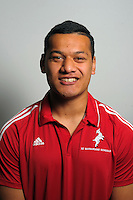 Hemaua Samasoni. The 2015 New Zealand Schools Barbarians rugby union team headshots at NZ Sports Institute, Palmerston North, New Zealand on Friday, 18 September 2015. Photo: Dave Lintott / lintottphoto.co.nz