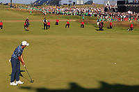 18th July 2021; Royal St Georges Golf Club, Sandwich, Kent, England; The Open Championship Golf, Day Four; Collin Morikawa (USA) putts on the 18th green to seal his two shot victory