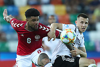 Philip Billing of Denmark and Maximilian Eggestein of Germany compete for the ball<br /> Udine 17-06-2019 Stadio Friuli <br /> Football UEFA Under 21 Championship Italy 2019<br /> Group Stage - Final Tournament Group B<br /> Germany - Denmark<br /> Photo Cesare Purini / Insidefoto