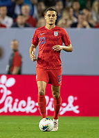 NASHVILLE, TN - JULY 3: Aaron Long #23 during a game between Jamaica and USMNT at Nissan Stadium on July 3, 2019 in Nashville, Tennessee.