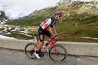 5th June 2021; La Plagne, Tarentaise, France;  CRAS Steff (BEL) of LOTTO SOUDAL in action during stage 7 of the 73th edition of the 2021 Criterium du Dauphine Libere cycling race, a stage of 171km with start in Saint-Martin-Le-Vinoux and finish in La Plagne