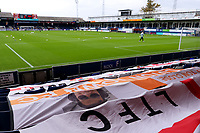 17th October 2020; Kenilworth Road, Luton, Bedfordshire, England; English Football League Championship Football, Luton Town versus Stoke City; Banners on the seats in the stands at Kenilworth stadium