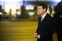 Hommage rendu aux victimes de l'Hypercacher, arrivÈe de Manuel Valls, le 9 janvier 2017 ‡ Paris.