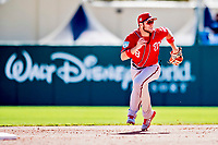 25 February 2019: Washington Nationals infielder Carter Kieboom in action during a pre-season Spring Training game against the Atlanta Braves at Champion Stadium in the ESPN Wide World of Sports Complex in Kissimmee, Florida. The Braves defeated the Nationals 9-4 in Grapefruit League play in what will be the Braves' last season at the Disney / ESPN Wide World of Sports complex. Mandatory Credit: Ed Wolfstein Photo *** RAW (NEF) Image File Available ***
