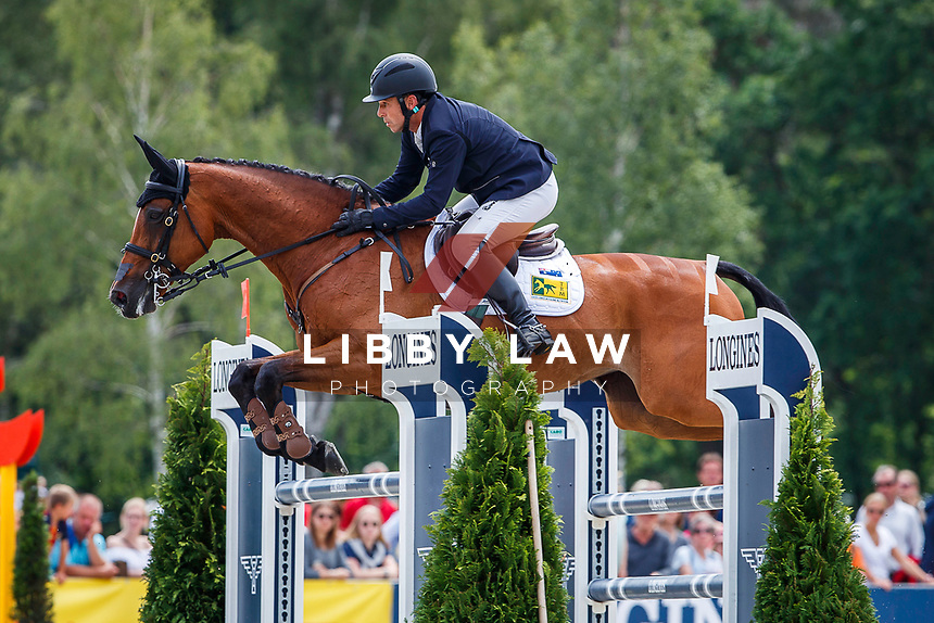 AUS-Sam Griffiths rides Paulank Brockagh during the Showjumping for the Longines CCI5*-L. Final-7th. The Longines Luhmuehlen International Horse Trials. Salzhausen, Germany. Sunday 16 June. Copyright Photo: Libby Law Photography