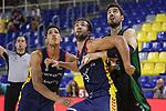 LLIGA NACIONAL CATALANA ACB 2020 AON.<br /> Morabanc Andorra vs Club Joventut Badalona: 77-75.<br /> Jose Miguel Tyson Perez, Nacho Llovet & Ante Tomic.