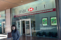 A  branch of HSBC in Beijing, China..