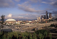 AJ3671, Seattle, skyline, Washington, View of the city of Seattle in the state of Washington.