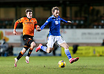Dundee United v St Johnstone…12.01.21   Tannadice     SPFL<br />Stevie May gets away from Ian Harkes<br />Picture by Graeme Hart.<br />Copyright Perthshire Picture Agency<br />Tel: 01738 623350  Mobile: 07990 594431