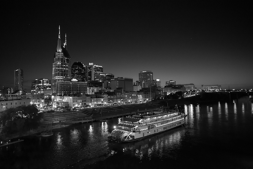 Black and White Boating