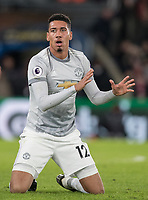 Chris Smalling of Man Utd during the Premier League match between Crystal Palace and Manchester United at Selhurst Park, London, England on 5 March 2018. Photo by Andy Rowland.