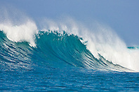 Big ocean wave, Keauhou Bay, Kona Coast, Big Island, Hawaii, Pacific Ocean.