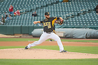 Cam Bedrosian (30) of the Salt Lake Bees during the game against the Tacoma Rainiers in Pacific Coast League action at Smith's Ballpark on May 7, 2015 in Salt Lake City, Utah.  (Stephen Smith/Four Seam Images)