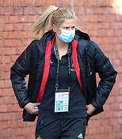 Justine Vanhaevermaet (10) of Belgium  pictured entering the stadium before   a friendly female soccer game between the national teams of Belgium , called the Red Flames and The Republic of Ireland , on sunday 11 th of April 2021  in Brussels , Belgium . PHOTO: SEVIL OKTEM | SPORTPIX.BE | SPP