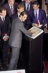 Spanish tennis player Rafael `Rafa´Nadal receives the 75th Anniversary Marca Award during the ceremony at Callao cinema in Madrid, Spain. November 26, 2013. (ALTERPHOTOS/Victor Blanco)
