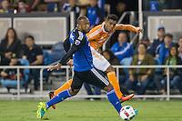 Santa Clara, CA - Friday, August 19, 2016: The Houston Dynamo defeated the San Jose Earthquakes 2-1 in a MLS game at Avaya Stadium.