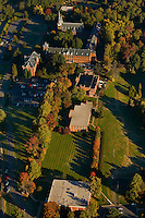 Aerial view of Belmont Abbey College, located 10 miles west of Charlotte, NC. Founded in 1876, the College is home to more than 1,200 students. The campus is situated on the 650-acre picturesque monastic property of Belmont Abbey.