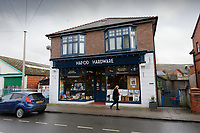 Pictured: Exterior view of the Hafod Hardware store in Rhayader, mid Wales, UK. Thursday 05 December 2019.<br /> Re: Shop owner Thomas Lewis Jones has made a Christmas advert starring Arthur Lewis Jones, his two-year-old son costing only £100.<br /> Hafod Hardware in Rhayader, Powys, has been making festive adverts for several years.<br /> This year's advert sees Arthur setting up the shop along with members of his family.