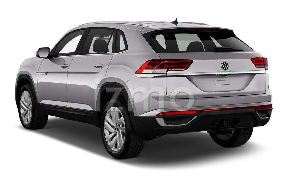 Car pictures of rear three quarter view of 2020 Volkswagen Atlas-Cross-Sport SE-w/Tech 5 Door SUV Angular Rear