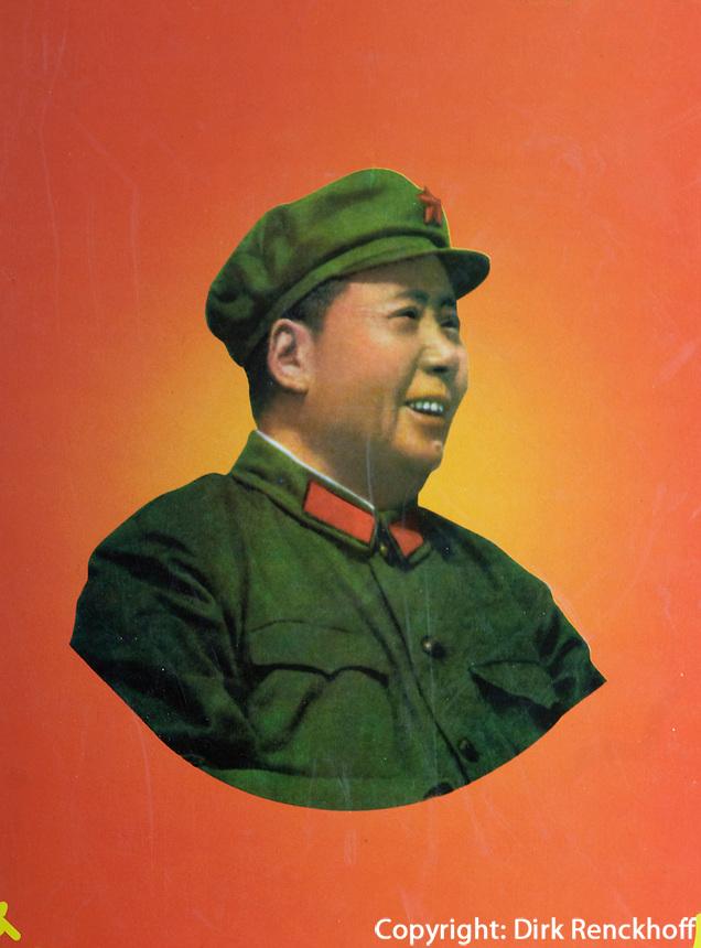 China, Peking (Beijing), Mao-Plakate beim Qianmen