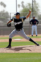 Casey Baron - Milwaukee Brewers - 2009 spring training.Photo by:  Bill Mitchell/Four Seam Images