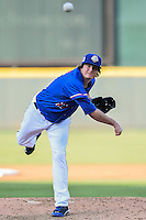 Round Rock Express pitcher Luke Jackson (27) warms up during pacific coast league baseball game, Saturday August 16, 2014 in Round Rock, Tex. Tacoma Rainiers win game one of the best of four series 8-7. (Mo Khursheed/TFV Media via AP Images)