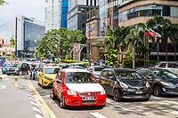 Sunday Afternoon Traffic on Jalan Bukit Bintang, Kuala Lumpur, Malaysia.