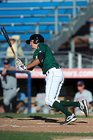 Jamestown Jammers third baseman Matt Juengel #6 during the first game of a double header against the Hudson Valley Renegades at Russell Diethrick Park on August 6, 2012 in Jamestown, New York.  Hudson Valley defeated Jamestown 4-2.  (Mike Janes/Four Seam Images)