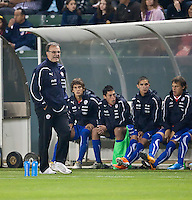 CARSON, CA – JANUARY 22: Chile Head Coach Marcelo Bielsa during the international friendly match between USA and Chile at the Home Depot Center, January 22, 2011 in Carson, California. Final score USA 1, Chile 1.