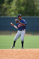 Atlanta Braves Yeudi Grullon (98) during a minor league Spring Training game against the Detroit Tigers on March 25, 2017 at ESPN Wide World of Sports Complex in Orlando, Florida.  (Mike Janes/Four Seam Images)
