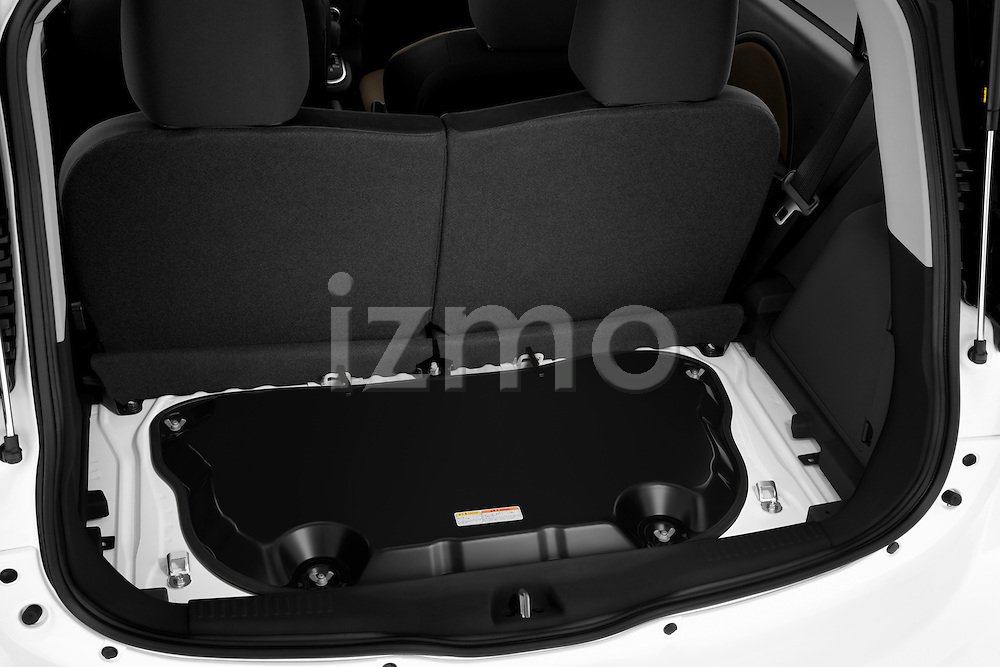 Electric vehicle trunk view of a 2012 Mitsubishi MiEV SE