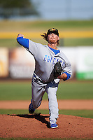 Mesa Solar Sox pitcher James Farris (41), of the Chicago Cubs organization, during a game against the Peoria Javelinas on October 19, 2016 at Peoria Stadium in Peoria, Arizona.  Peoria defeated Mesa 2-1.  (Mike Janes/Four Seam Images)