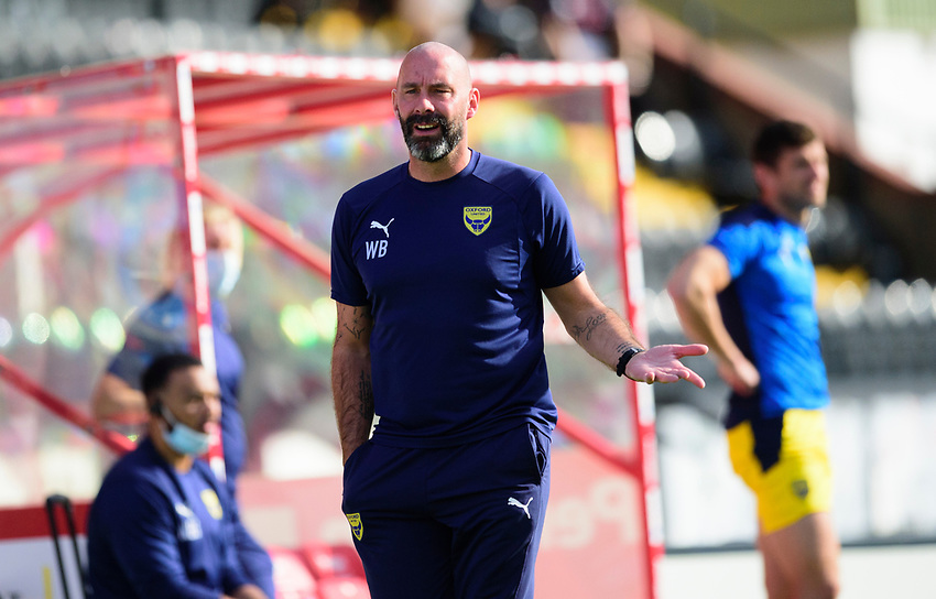 Oxford United's goalkeeping coach Wayne Brown<br /> <br /> Photographer Andrew Vaughan/CameraSport<br /> <br /> The EFL Sky Bet League One - Saturday 12th September  2020 - Lincoln City v Oxford United - LNER Stadium - Lincoln<br /> <br /> World Copyright © 2020 CameraSport. All rights reserved. 43 Linden Ave. Countesthorpe. Leicester. England. LE8 5PG - Tel: +44 (0) 116 277 4147 - admin@camerasport.com - www.camerasport.com - Lincoln City v Oxford United
