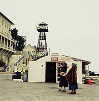 FILE PHOTO : Native occupation of Alcatraz in  1970 (exact date unknown)<br /> <br /> A revolving group of Native Americans held the island from November 20, 1969, to June 10, 1971, staying in the former penitentiary buildings without running water, phone service and, for part of the time, electricity.<br /> <br /> PHOTO : Alain Renaud<br />  - Agence Quebec Presse<br /> <br /> NOTE : Black and white coverage also available