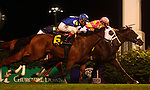 June 14, 2014:  AURELIA'S BELLE with jockey John Velazquez wins the G3 Regret Stakes on a disqualification.  Owner James F. Miller, trainer Wayne Catalano. ©Mary M. Meek/ESW/CSM