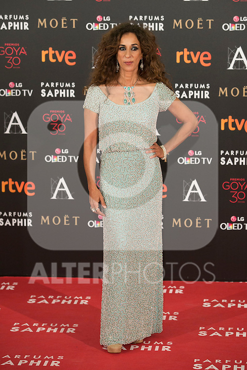 Rosario Flores attends 30th Goya Awards red carpet in Madrid, Spain. February 06, 2016. (ALTERPHOTOS/Victor Blanco)