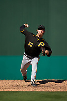 Pittsburgh Pirates pitcher James Marvel (60) during a Major League Spring Training game against the Minnesota Twins on March 16, 2021 at Hammond Stadium in Fort Myers, Florida.  (Mike Janes/Four Seam Images)
