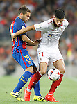 FC Barcelona's Jordi Alba (l) and Sevilla FC's Joaquin Correa during Supercup of Spain 2nd match.August 17,2016. (ALTERPHOTOS/Acero)