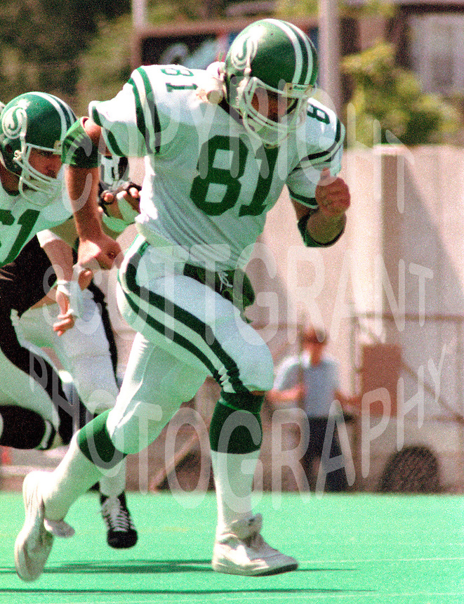Ray Elgaard Saskatchewan Roughriders 1984 . Photo Scott Grant