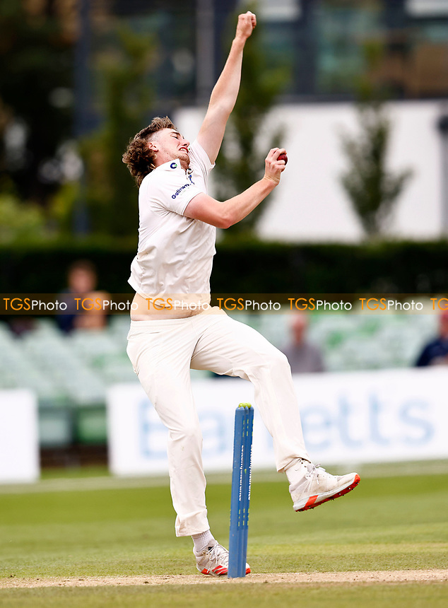 Jamie Atkins bowls for Sussex during Kent CCC vs Sussex CCC, LV Insurance County Championship Group 3 Cricket at The Spitfire Ground on 14th July 2021