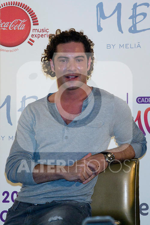 """09.05.2012.Press Conference 20th Anniversary Concert of Cadena 100 on the """"Hotel ME"""" in the Plaza de Santa Ana (Madrid). In the picture: David Bisbal (Alterphotos/Marta Gonzalez)"""