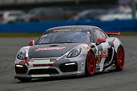 5-8 January, 2017, Daytona Beach, Florida USA<br /> 28, Porsche, Porsche Cayman GT4, GS, Dylan Murcott, Dillon Machavern<br /> ©2017, Jake Galstad<br /> LAT Photo USA