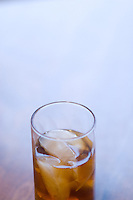 A glass of tea and ice