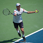 Andreas Seppi (ITA) loses at the Western and Southern Financial Group Masters Series in Cincinnati on August 15, 2012