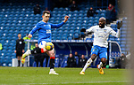 13.02.2021 Rangers v Kilmarnock: Ryan Jack controls the ball before smashing a volley into the net for the only goal of the match