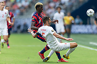 KANSAS CITY, KS - JULY 18: Gyasi Zardes #9 of the United States during a game between Canada and USMNT at Children's Mercy Park on July 18, 2021 in Kansas City, Kansas.
