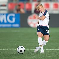 Lori Chalupny. The US Women's National Team defeated the Canadian Women's National Team, 4-0, at BMO Field in Toronto during an international friendly soccer match on May 25, 2009.