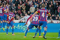 Saturday 29th November 2014<br /> Pictured: Gylfi Sigurosson of Swansea City takes a free kick for Swansea City  <br /> Re: Barclays Premier League Swansea City v Crystal Palace at the Liberty Stadium, Swansea, Wales,UK