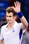 SHANGHAI, CHINA - OCTOBER 14:  Andy Murray of Great Britain celebrates match point to Jeremy Chardy of France during day four of the 2010 Shanghai Rolex Masters at the Shanghai Qi Zhong Tennis Center on October 14, 2010 in Shanghai, China.  (Photo by Victor Fraile/The Power of Sport Images) *** Local Caption *** Andy Murray